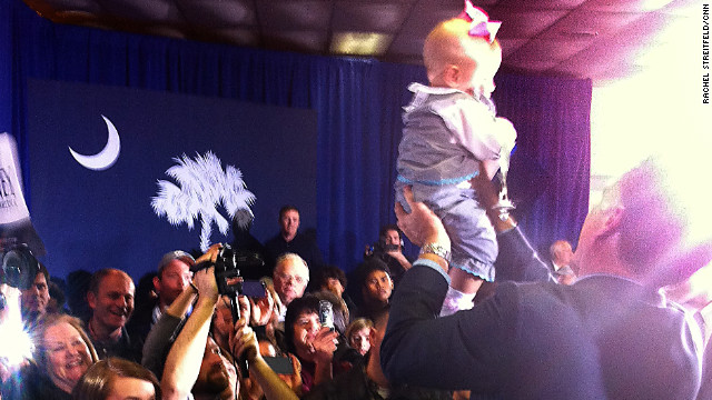 "One of Mitt Romeny's famous ""Simba lifts."""