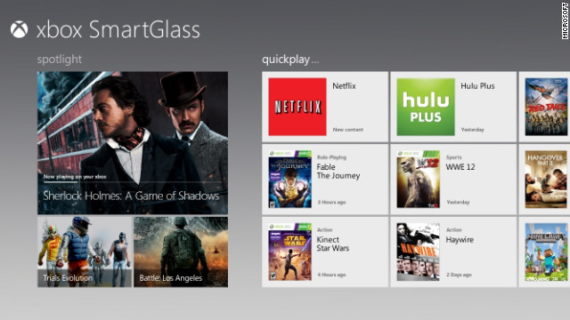 Xbox SmartGlass aims to link devices