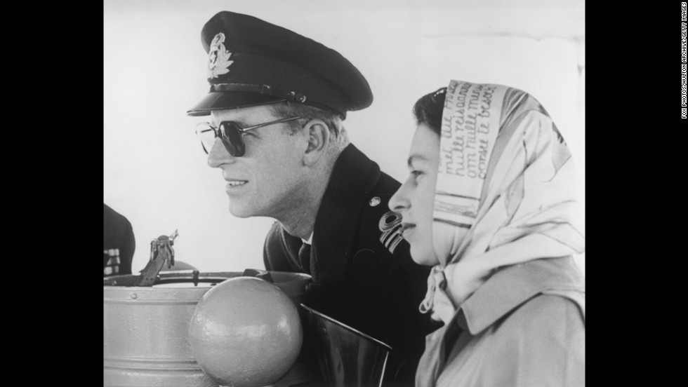 February 6, 1952: Queen Elizabeth II and Prince Philip on board the destroyer Crusader, bound for Victoria and the first leg of their Commonwealth tour.  On the same day, King George VI passed away in England and the royal tour was cut short.