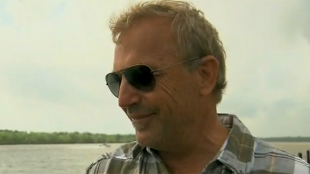 Costner explains clean-up technology