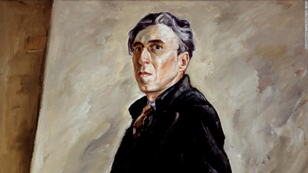 Still, here in a self-portrait from 1940, is credited with being among the first artists to develop expressionist abstraction not based on geometry.