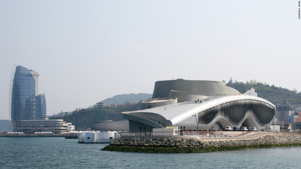 """Built on reclaimed land, the architects were not sure their ideas for the pavilion could be realized on a large scale. They beat off star architects like Zaha Hadid to be a central part of the Expo 2012 with its theme of """"the living coast and ocean."""""""