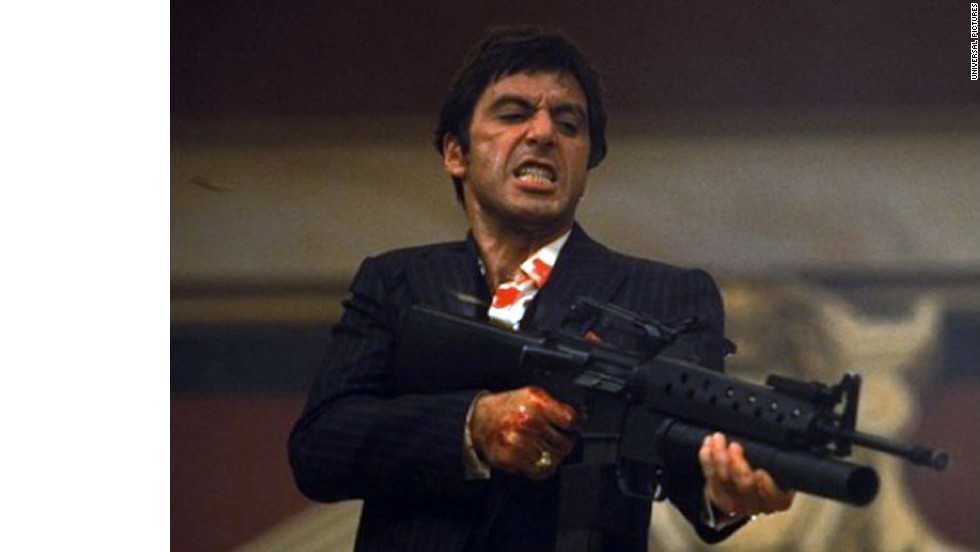 "Preceded by the 1932 version, 1983's ""Scarface"" starring Al Pacino and Michelle Pfeiffer is regarded as a cult classic. Artists like Jay-Z often pay homage to drug lord Tony Montana through music. ""(Rappers) really get it, and they understand it, and that's a great thing,"" Pacino told MTV in 2011."