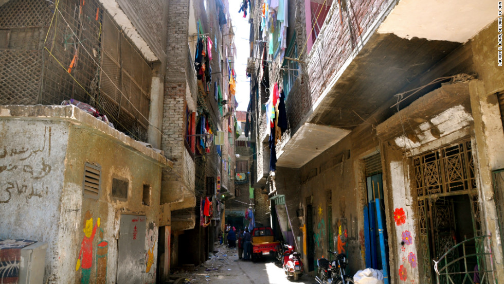 "Two-thirds of the Cairo population live in informal shanty-towns called Ashwiyats (literally meaning ""random"" in Arabic). The unplanned settlements have proliferated across the city over the past three decades."