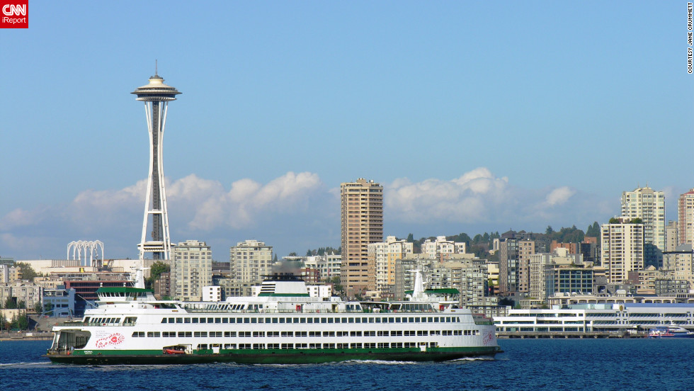 Despite Seattle's frequent rain, iReporter Jane Crummett says the city has the bluest skies around when the sun is out.