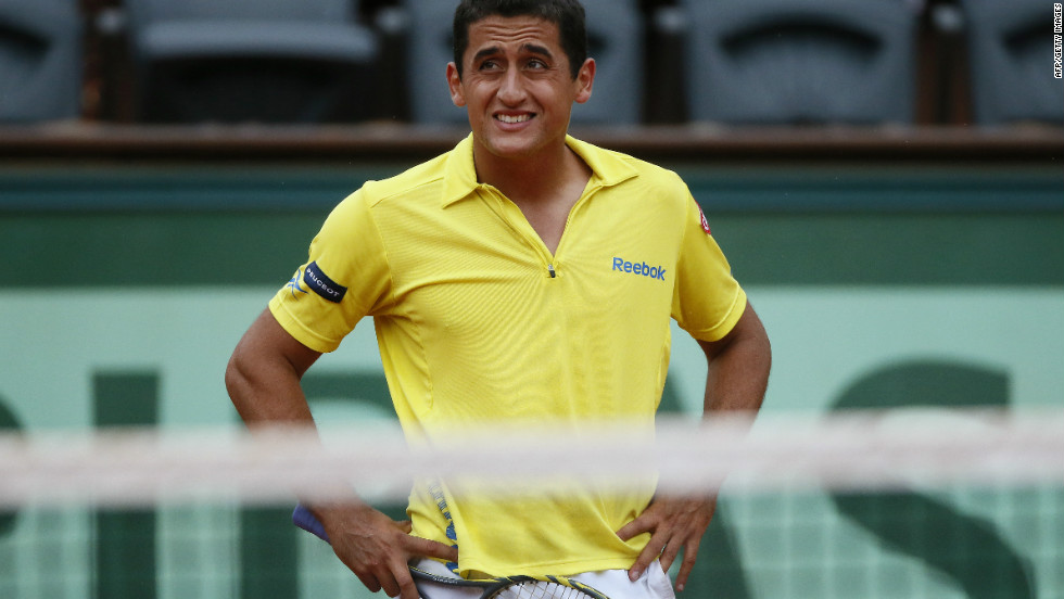 Nadal's opponent, Nicolas Almagro, couldn't cope with his compatriot's power or speed.