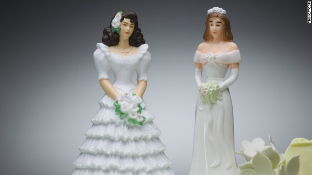 """It's just like every other couple: Some make it and some don't,"" says Jessica Port, who is going through a divorce from her same-sex partner."