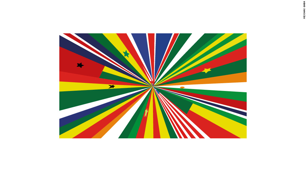 "The ""We Face Forward"" exhibition at Manchester Art Gallery, in the UK, will focus on West African art. The emblem of the exhibition is an artwork by Meschac Gaba. His flag is entitled ""Ensemble"" and combines all the West African nations with the the Union flag in a gesture of solidarity and friendship."