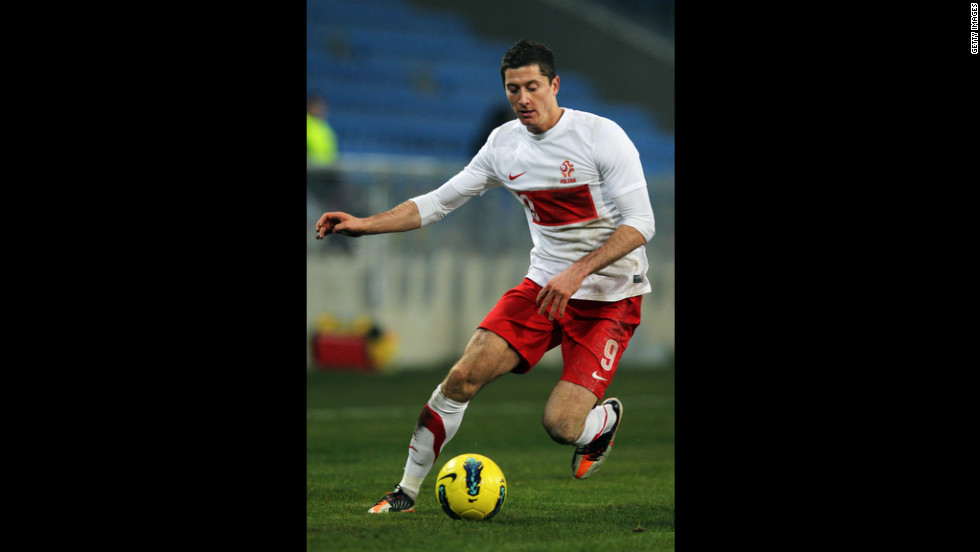 Poland's Robert Lewandowski scored his first goal during his debut in 2008, weeks after his 20th birthday. The high-scoring striker could take one of the host nations far.