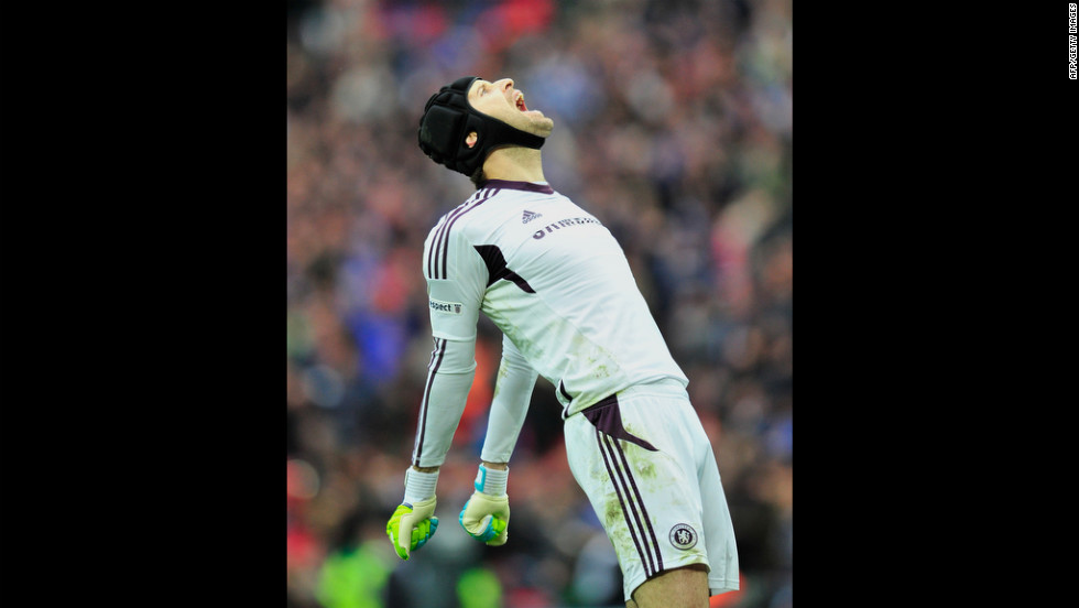 Petr Cech is the goalkeeper who made the save to win the 2012 UEFA Champions League title fro Chelsea. The Czech Republic player is unmissable wearing protective headgear -- which he has worn since a sickening collision during a match in 2006.