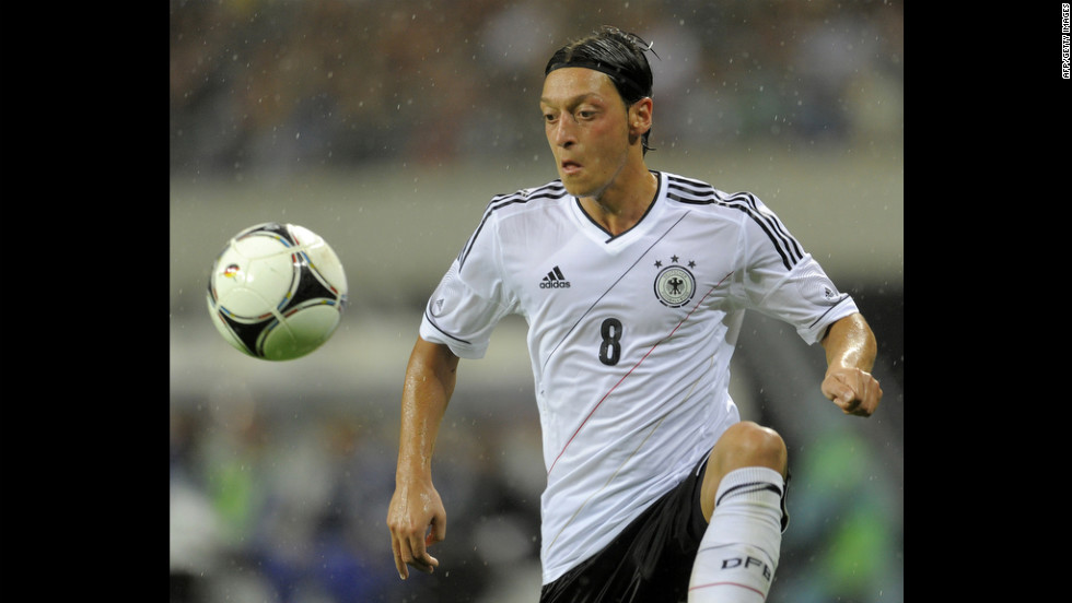 A rising star on the German national team, 23-year-old Mesut Ozil works as an attacking midfielder. He was nominated for the Golden Ball Award at age 21 during the 2010 FIFA World Cup and is ranked second in assists in the Spanish league.