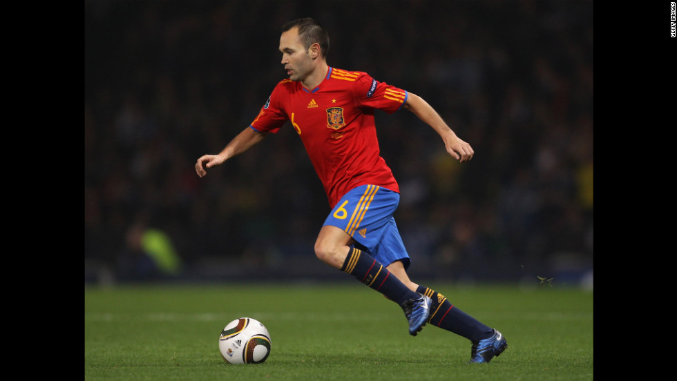 Midfielder Andres Iniesta is a superstar on a team of stars on the pre-tournament favorite and defending Euro and World Cup champions: Spain.