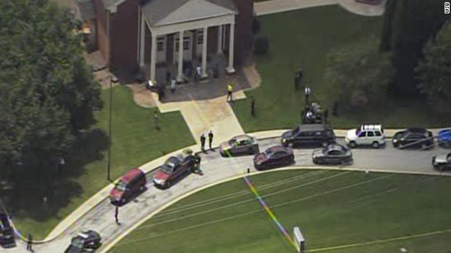 Four people were shot, two fatally, at a funeral Thursday in Stone Mountain, Georgia.