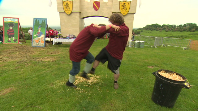 The ancient sport of shin-kicking