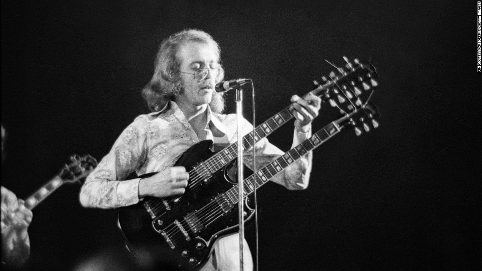 American Bob Welch plays at Sundown in 1972. Welch joined the band in 1971 before launching a solo career. On June 7, 2012, Welch died of a self-inflicted gunshot wound to his chest. He was 66.
