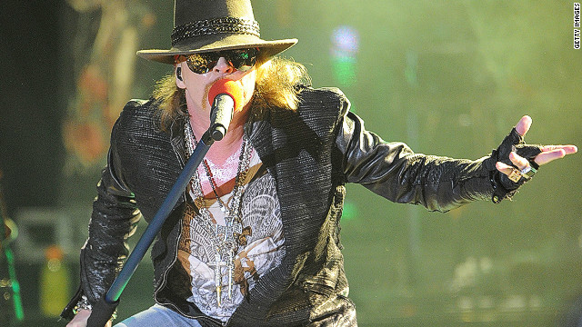Singer Axl Rose of Guns N' Roses performs at the Hollywood Palladium in March in Hollywood, California.