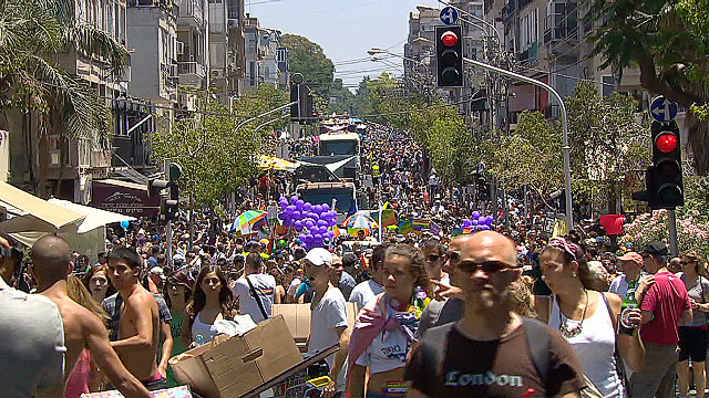 Celebrating gay pride in Tel Aviv