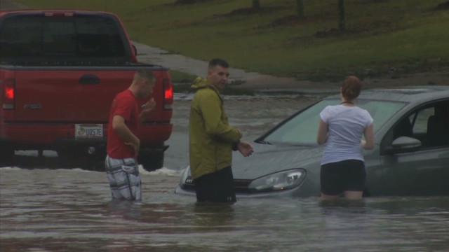 Flooding, damage in Pensacola, Florida