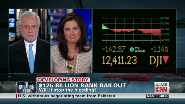 Markets fall on Spain bailout news