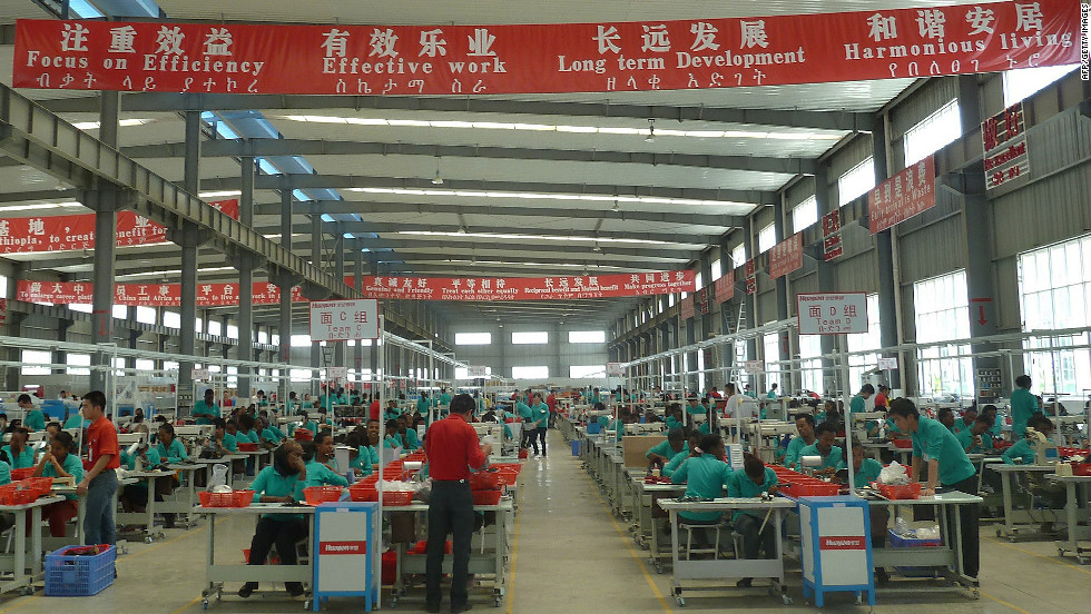 Chinese shoe maker Huajian has built a factory outside Adis Ababa, Ethiopia, employing some 550 local and Chinese workers.