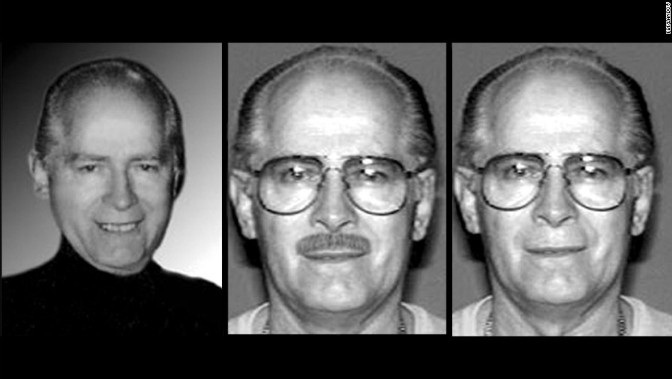An FBI handout shows various images of Bulger, who became one of America's most-wanted men after fleeing in 1995 before an impending indictment on racketeering charges.