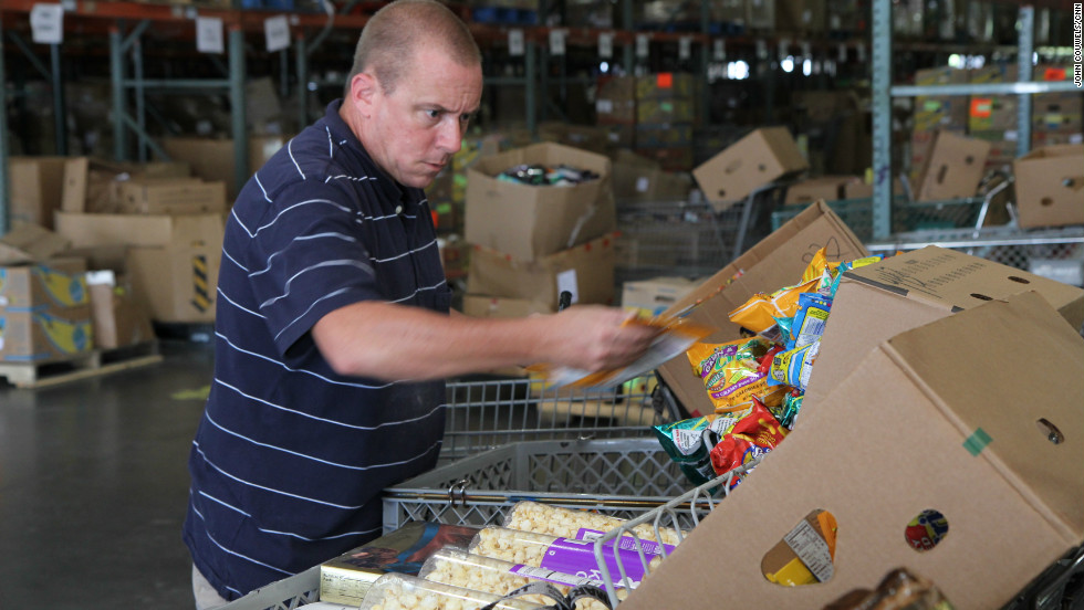 To receive a monthly stipend of $240 from the state of Florida, Watson volunteers at a local food pantry, where he marks food items for sale. He also receives $347 a month in food stamps.
