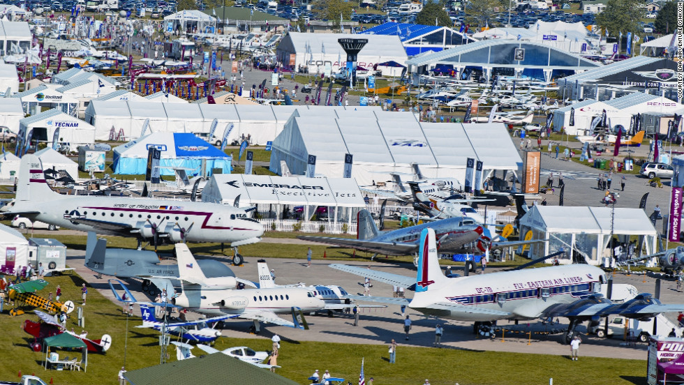"Drawing more than a half-million visitors each year, <a href=""http://www.airventure.org/"" target=""_blank"">the world-famous Oshkosh, Wisconsin, airshow</a> sounds like Woodstock for aviation geeks. Except more organized and louder."