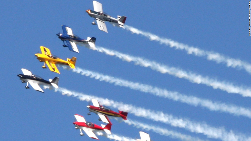 "The <a href=""http://www.teamrv.us/"" target=""_blank"">Team RV</a> aerobatic squadron is slated to perform at this July's Oshkosh airshow. Team RV's homebuilt aircraft -- designed by Richard VanGrunsven -- perform at speeds over 200 mph while pulling g-forces up to 6 times normal gravity."