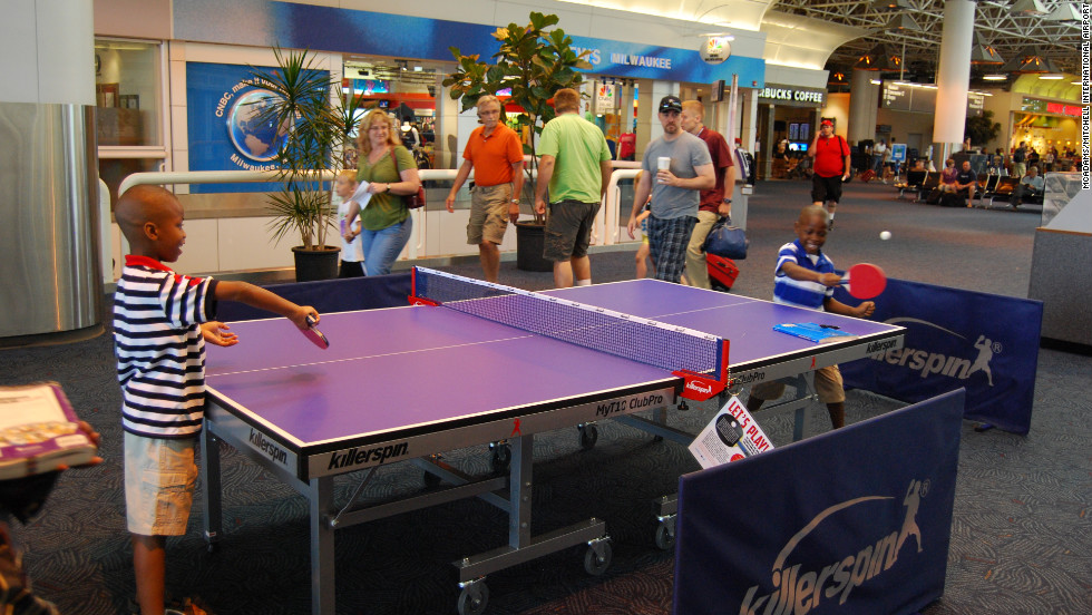 It¹s game on at Milwaukee's Mitchell Airport, where a ping pong table installed last summer as part of a special event has been so popular that they decided to make it a permanent fixture.