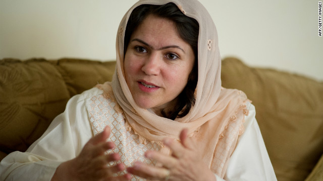 Fawzia Koofi says she copes with the pressure of being a female politician in Afghanistan by spending time with her daughters. She's seen here in May 2012.
