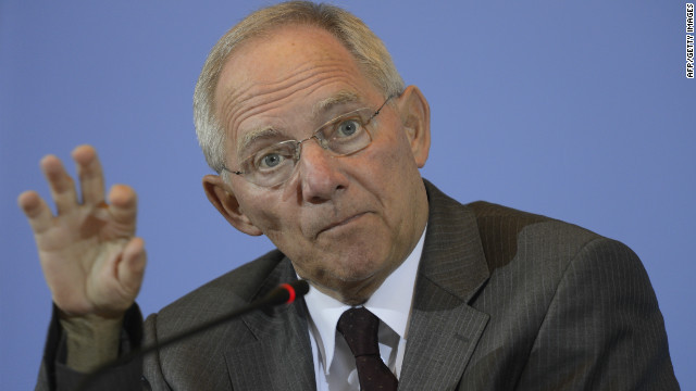 File photo of German Finance Minister Wolfgang Schäuble.