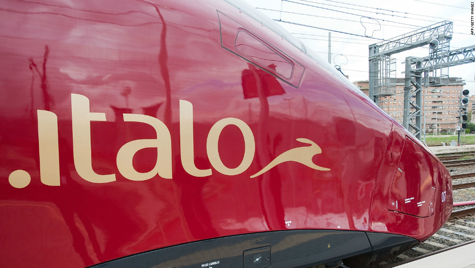 The Italo train from NTV is Italy's first high-speed rail operation not run by the state.