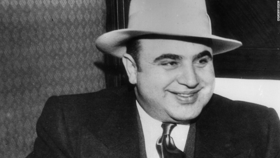 "Al Capone, or ""Scarface"" as he was popularly known, remains one of America's most notorious gangsters. Known for wearing custom suits, fedoras and spats, Capone was infamous in 1920s Chicago for his bootlegging and racketeering activities. Capone died in 1947."