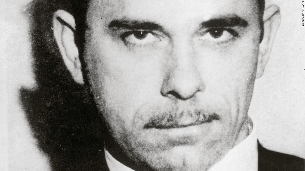 John Dillinger,  gangster and bank robber, was the first criminal to be called Public Enemy No. 1 by the FBI. Bureau agents gunned him down outside a movie theater in 1934.
