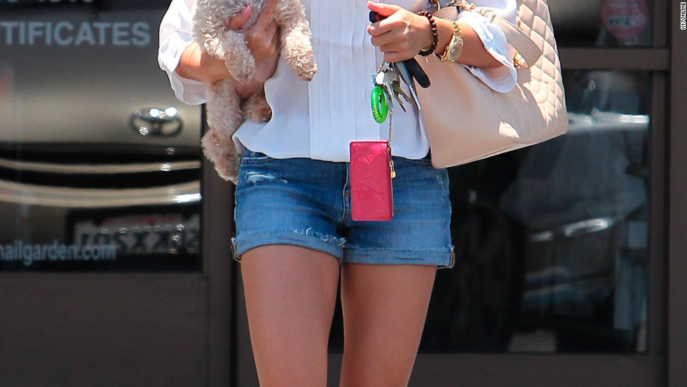 Ashley Tisdale leaves a nail salon in Los Angeles.