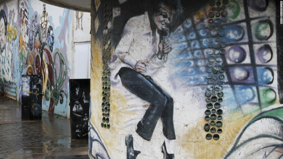 Before the group turned to political art their work including entertainment figures like Michael Jackson.