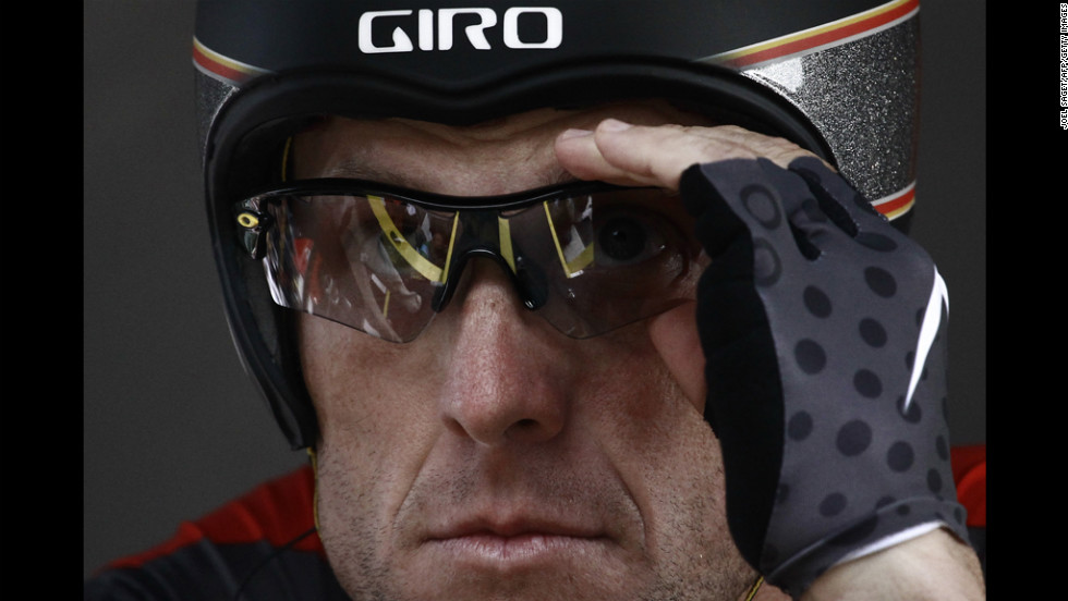 Ahead of what he said would be his last Tour de France, Armstrong gears up for the start of the race in 2010. He went on to race in the 2011 tour.