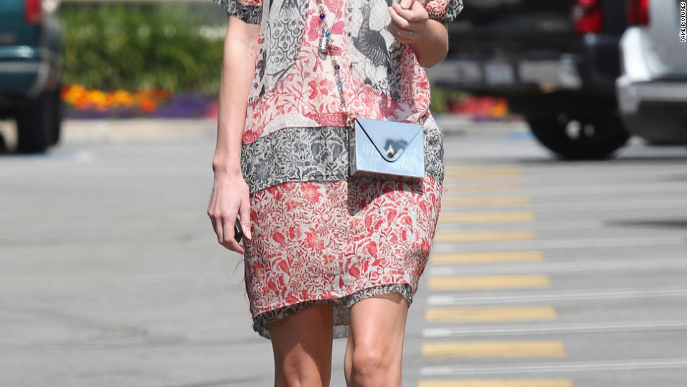 Kate Bosworth leaves an office building in Los Angeles.