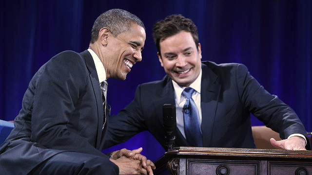 Obama meets Jimmy Fallon