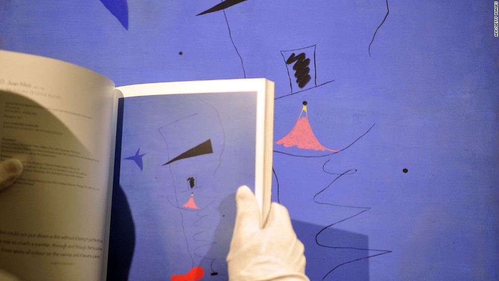 "Joan Miro's ""Peinture (Etoile Blueu)"" is among the most important works by the artist that has ever come to auction and is expected to fetch $20 million to $30 million."