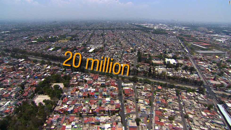 The Mexican capital is home to more than 20 million people ...