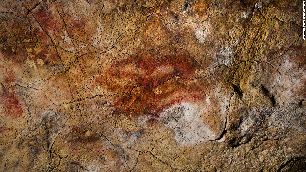 "This double ""claviform"" symbol on the ceiling of the Altamira Cave, in Spain, is at least 35,600 years old."
