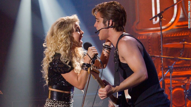 Julianne Hough and Diego Boneta play Sherrie and Drew, respectively, in the film.