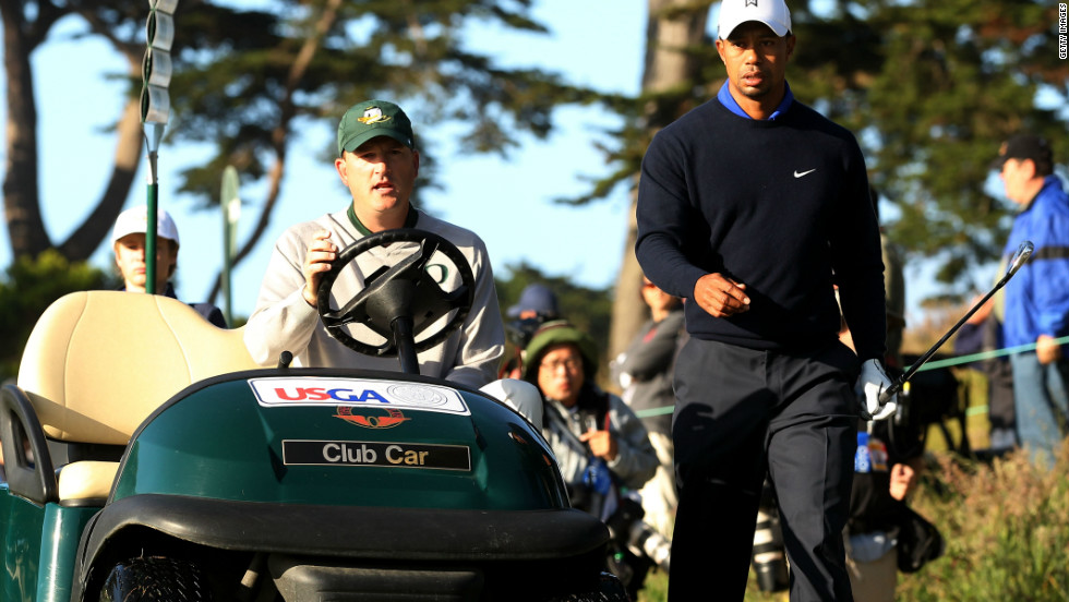 Martin had a practice round with his former Stanford college teammate Tiger Woods ahead of the tournament at San Francisco's Olympic Club.