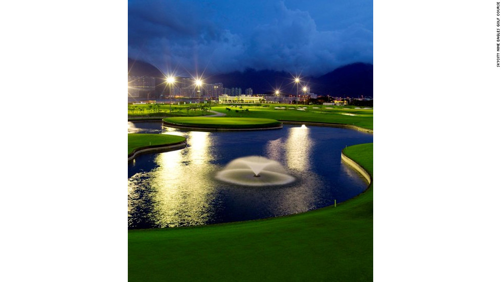 Getting in nine holes is par for the course in Hong Kong, thanks to the USGA-approved SkyCity Nine Eagles Golf Course adjacent to Terminal 2.