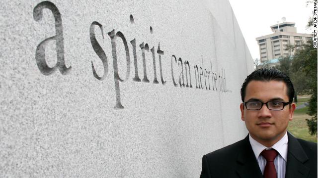Jose Luis Zelaya photographed at Texas A&M University.