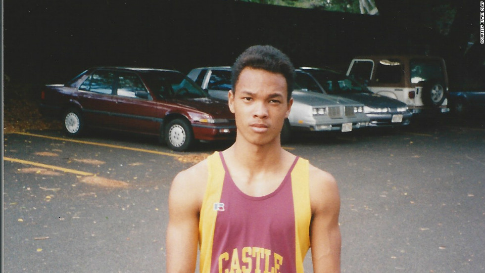 Clay during his high school track and field days in Hawaii.