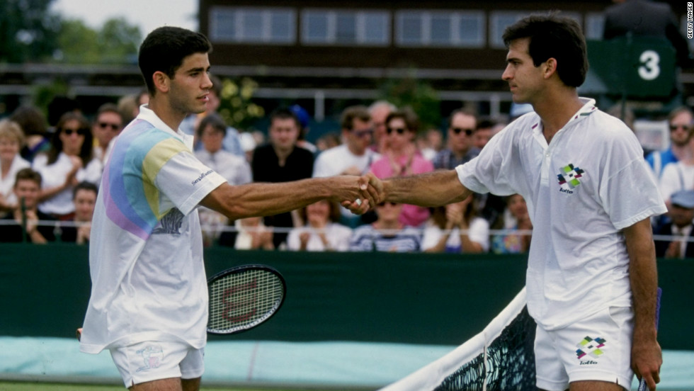 However, he struggled in his early years there. After two first-round exits, a youthful Sampras lost to fellow American Derrick Rostagno in round two in 1991.