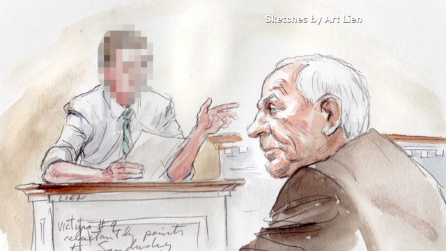 Jerry Sandusky is charged with improper behavior with 10 alleged victims.