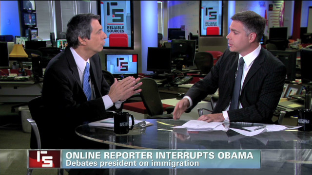 Online reporter interrupts Obama